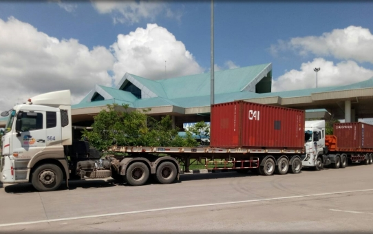 เปิดShipmentแรกของการดูแลงานพิธีการทางศุลกากร งานข้าวสารผ่านแดน ส่งจาก สปป. ลาว ผ่านแดนไทย(ด่านมุกดาหาร-ท่าเรือแหลมฉบัง) ไปยุโรป ปลายทางประเทศเบลเยี่ยม กับ บ.น นน ประเทศไทย...